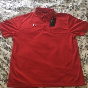 Men's Under Armour Golf Polo M (Red)